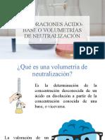 Valoraciones Ácido-base o Volumetrías de Neutralización