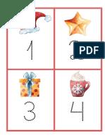 Números e letras para traçar