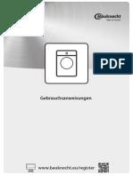 Bauknecht WM Pure 7G41 Bedienungsanleitung 62c8e1