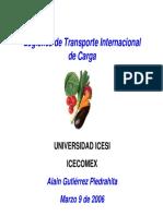 Logistica de Transporte Internacional de Carga - Alain Gutierrez P