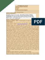 Ficha de Leitura Vida, Ideias, Teorias e Política Tradicional