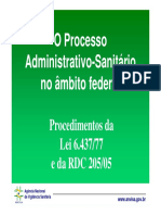 Processo Administrativo Sanitário Federal ANVISA