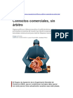 Nota de prensa - Organo de Apelación - Conflictos Comerciales sin árbitros - OMC