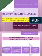 1. Consideratii Generale Privind Dreptul International Public