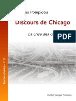 Pompidou, Discours de Chicago