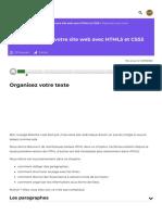Organisez votre texte - Apprenez à créer votre site web avec HTML5 et CSS3 - OpenClassrooms_1604254363118