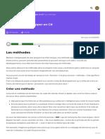 Les méthodes - Apprenez à développer en C# - OpenClassrooms_1604839470978