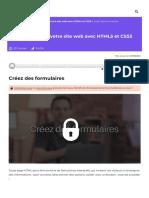 Créez des formulaires - Apprenez à créer votre site web avec HTML5 et CSS3 - OpenClassrooms_1604753611541