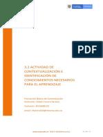 3.2 Actividades de contextualización e identificación de conocimientos necesarios para el aprendizaje (8)