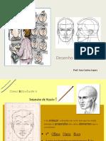 desenho de estrutura do rosto