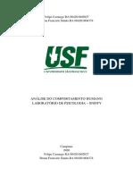 Relatório Sniffy- Análise do Comportamento Humano FINAL
