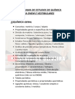 CRONOGRAMA DE QUÍMICA