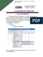 INTRODUCCIÓN AL SPSS ALPHA DE CRONBACH