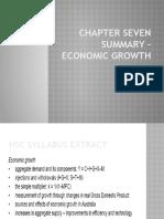 Chapter 7 Summary - Economic Growth