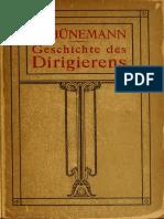 SCHÜNEMANN Geschichte Des Dirigierens