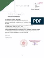 2021.05.24 III_OZ_191_21 - Odpis Postanowienia z Dnia 23.03.2021 r. z Uzasadnieniem