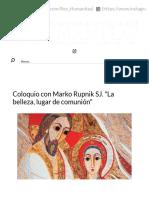 Coloquio con Marko Rupnik SJ. 'La belleza, lugar de comunión' _ Arte