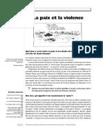 la paix et la violence