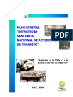 Plan General Accidentes de Transito