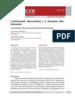 ARTIGO 1 Comunicação, Neurociência e a Recepção NãoDeclarada