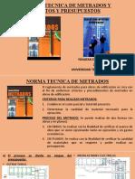 NORMA TECNICA DE METRADOS Y COSTOS Y PRESUPUESTOS YONATAN EZEQUILLA BARAZORDA