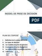 Modele de prise de decision