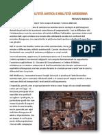 L'ASSISTENZA NELL'ETÀ ANTICA E NELL'ETÀ MODERNA