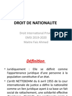 la NATIONALITE - partie 1