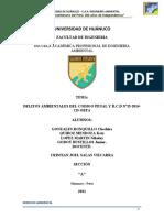 DELITOS AMBIENTALES DEL CODIGO PENAL Y R.C.D Nº15-2014-CD-OEFA