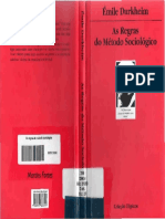 Émile Durkheim - As Regras Do Método Sociológico-1