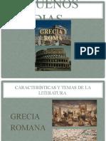 CARACTERISTICAS Y TEMAS DE LA LITERATURA GRIEGA Y ROMANA