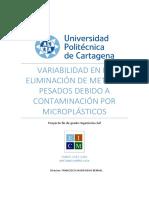 N°5 Variabilidad En La Eliminación de Metales Pesados debido a Contaminación´por microplasticos