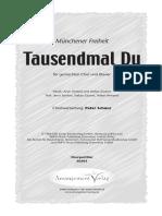 TAUSENDMAL DU - CHOR