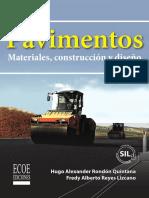Pavimentos, Materiales, Construcción y Diseño - Hugo Rondón, Fredy Reyes Lizcano [Www.libreriaingeniero.com]