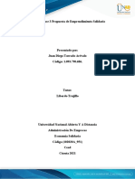 Unidad 2 Fase 3 Propuesta de Emprendimiento Solidario