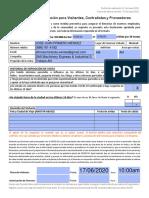 Plantilla Cuestionario COVID-19 Emerson Visitas