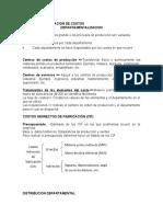 DEPARTAMENTALIZACION DE COSTOS