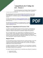 Regras de Competência do Código de Processo Civil