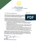Bexar County DA Joe Gonzales' letter to crime victims
