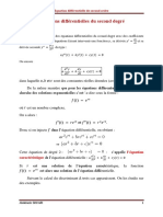 Equations différentielles du second degré