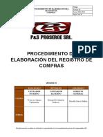PROCEDIMIENTO DE ELABORACION DE REGISTRO DE COMPRAS