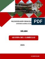 SÍLABO DE GESTIÓN DEL CURRÍCULO