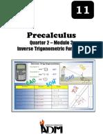 Precalculus11 Q2 M3 Inverse-Trigonometric-Function