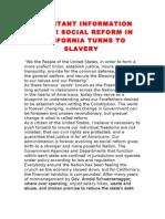 Social Reform or Slavery