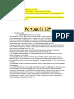 Português 12º resumo