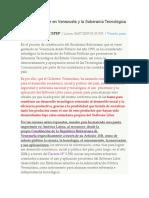 El Software Libre en Venezuela y La Soberanía Tecnológica