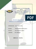 Procedimientos Especiales II - Cuestionario 1