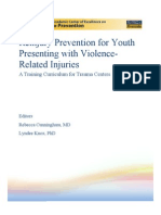 Reinjury Prevention for Youth Presenting with Violence-Related Injuries