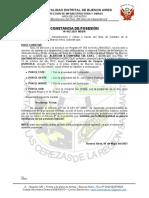 Constancia de Posesion Nº 042-2021-Mdba