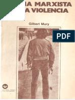 Mury, Gilbert-Teoría Marxista de La Violencia